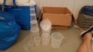 5 sets of  12.Plastic Beakers